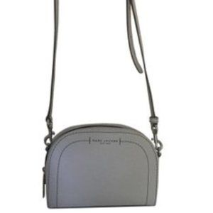 Marc Jacobs Light Grey Leather Crossbody Bag- New